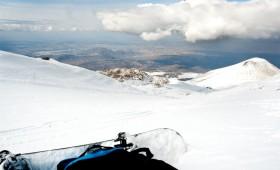 Erciyes'i Snowboard ile Turlamak